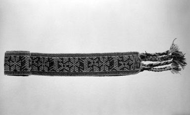 Huichol (Wixárika). <em>Belt</em>. Wool Brooklyn Museum, 40.765. Creative Commons-BY (Photo: Brooklyn Museum, 40.765_bw.jpg)