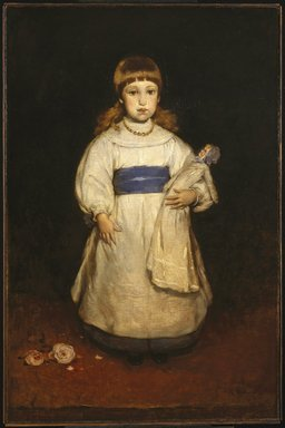 Frank Duveneck (American, 1848-1919). <em>Mary Cabot Wheelwright</em>, 1882. Oil on canvas, 50 3/16 x 33 1/16 in. (127.5 x 84 cm). Brooklyn Museum, Dick S. Ramsay Fund, 40.87 (Photo: Brooklyn Museum, 40.87_SL1.jpg)