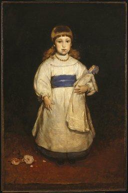 Frank Duveneck (American, 1848-1919). <em>Mary Cabot Wheelwright</em>, 1882. Oil on canvas, 50 3/16 x 33 1/16 in. (127.5 x 84 cm). Brooklyn Museum, Dick S. Ramsay Fund, 40.87 (Photo: Brooklyn Museum, 40.87_SL1.jpg)