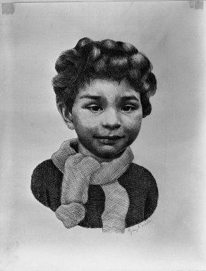 George Biddle (American, 1885-1973). <em>Michael John</em>. Lithograph on paper, 11 x 7 1/16 in. (28 x 18 cm). Brooklyn Museum, Dick S. Ramsay Fund, 40.894. © artist or artist's estate (Photo: Brooklyn Museum, 40.894_acetate_bw.jpg)