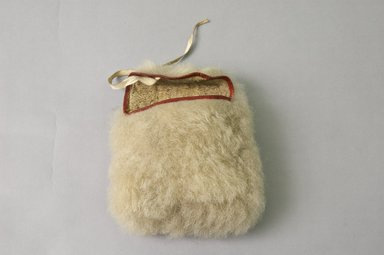 Kalaallit (Greenlander Eskimo). <em>Woman's Pouch</em>, early 20th century. New brown seal fur, hide, fabric, 6 1/2 x 6 x 2 1/2 in. or (20.0 x 15.0 cm). Brooklyn Museum, Ella C. Woodward Memorial Fund, 40.913. Creative Commons-BY (Photo: Brooklyn Museum, 40.913_PS5.jpg)