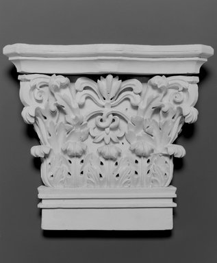 Unknown. <em>Pilaster</em>, ca. 1835. Painted pine, 132 x 16 x 3 in.  (335.3 x 40.6 x 7.6 cm). Brooklyn Museum, Gift of the Young Men's Christian Association, Flatbush Branch, 40.931.3. Creative Commons-BY (Photo: Brooklyn Museum, 40.931.3_bw.jpg)