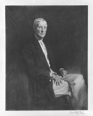 Timothy Cole (American, 1852-1931). <em>John D. Rockefeller, Sr.</em>, 1921. Wood engraving Brooklyn Museum, Gift of John D. Rockefeller, Jr., 40.93 (Photo: Brooklyn Museum, 40.93_bw.jpg)