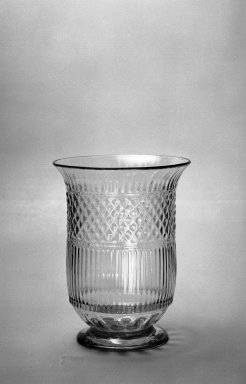 American. <em>Celery Vase</em>, 19th century. Glass, 6 3/4 x 5 1/8 in. (17.2 x 13 cm). Brooklyn Museum, Dick S. Ramsay Fund, 40.97. Creative Commons-BY (Photo: Brooklyn Museum, 40.97_acetate_bw.jpg)