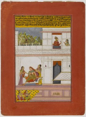 Indian. <em>Patamanjari Ragini, Page from a Dispersed Ragamala Series</em>, early 18th century. Opaque watercolor and gold on paper, Sheet: 12 x 8 7/8 in.  (30.5 x 22.5 cm). Brooklyn Museum, By exchange, 41.1024 (Photo: Brooklyn Museum, 41.1024_IMLS_PS4.jpg)