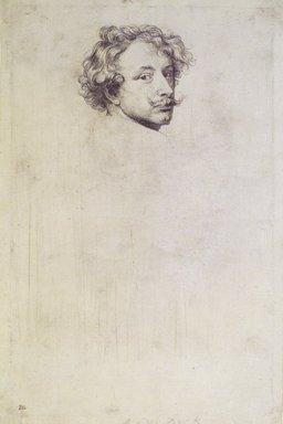 Sir Anthony van Dyck (Flemish, 1599-1641). <em>Self-Portrait</em>. Etching, 9 5/8 x 6 3/16 in. (24.5 x 15.7 cm). Brooklyn Museum, Gift of Harold K. Hochschild, 41.1110 (Photo: Brooklyn Museum, 41.1110_transpc002.jpg)