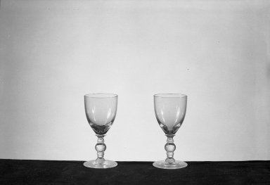 American. <em>Cordial Glass</em>, 19th century. Glass Brooklyn Museum, Gift of Carlotta Dorflinger Atkinson in memory of her father, Christian Dorflinger, 41.1120. Creative Commons-BY (Photo: , 41.1119_41.1120_acetate_bw.jpg)