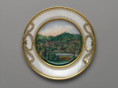 <em>Plate</em>, ca. 1870. Porcelain Brooklyn Museum, Gift of Carlotte D. Atkinson in memory of her father, Christian Dorflinger, 41.1127. Creative Commons-BY (Photo: Brooklyn Museum, 41.1127_PS1.jpg)