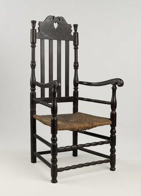American. <em>Armchair</em>, 1725-1750. Maple, 46 1/2 x 22 x 18 1/2 in. (118.1 x 55.9 x 47 cm). Brooklyn Museum, Gift of Mrs. Francis P. Garvan in memory of Francis P. Garvan, 41.1207. Creative Commons-BY (Photo: Brooklyn Museum, 41.1207_PS6.jpg)