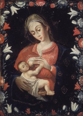 Unknown. <em>Madonna and Child</em>. Oil on canvas, 38 x 28 in. (96.5 x 71.1 cm). Brooklyn Museum, Carll H. de Silver Fund, 41.1250 (Photo: Brooklyn Museum, 41.1250.jpg)
