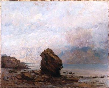 Gustave Courbet (French, 1819-1877). <em>Isolated Rock (Le Rocher isolé)</em>, ca. 1862. Oil on canvas, 25 1/2 x 32 in. (64.8 x 81.3 cm). Brooklyn Museum, Gift of Mrs. Horace O. Havemeyer, 41.1258 (Photo: Brooklyn Museum, 41.1258_SL1.jpg)