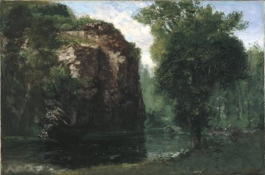 Gustave Courbet (French, 1819-1877). <em>The Silent River</em>, 1868. Oil on canvas, 27 7/8 x 42 3/16 in. (70.8 x 107.2 cm). Brooklyn Museum, Gift of Mrs. Horace O. Havemeyer, 41.1259 (Photo: Brooklyn Museum, 41.1259_reference_SL1.jpg)