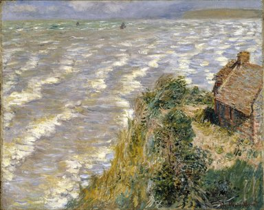 Claude Monet (French, 1840-1926). <em>Rising Tide at Pourville (Marée montante à Pourville)</em>, 1882. Oil on canvas, 26 x 32 in. (66 x 81.3cm). Brooklyn Museum, Gift of Mrs. Horace O. Havemeyer, 41.1260 (Photo: Brooklyn Museum, 41.1260_edited_version_SL1.jpg)