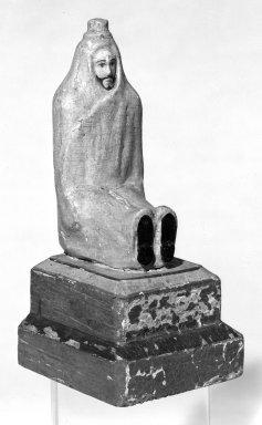 Unknown. <em>Carved Figure Representing St. Lazarus</em>. Wood, 7 x 3 x 4 in. (17.8 x 7.6 x 10.2 cm). Brooklyn Museum, Museum Expedition 1941, Frank L. Babbott Fund, 41.1273.14. Creative Commons-BY (Photo: Brooklyn Museum, 41.1273.14_threequarter_bw.jpg)