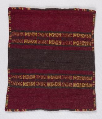 Inca. <em>Miniature Mantle</em>, 1400-1532. Camelid fiber, 9 7/16 x 10 5/8 in. (24 x 27 cm). Brooklyn Museum, Museum Expedition 1941, Frank L. Babbott Fund, 41.1275.107. Creative Commons-BY (Photo: Brooklyn Museum, 41.1275.107_PS4.jpg)
