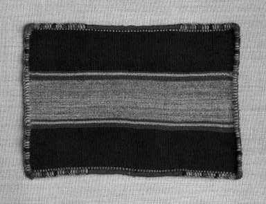 Inca. <em>Miniature Mantle</em>, 1400-1532. Camelid fiber, 6 11/16in x 4 3/4in (17.0 x 12.0 cm). Brooklyn Museum, Museum Expedition 1941, Frank L. Babbott Fund, 41.1275.111. Creative Commons-BY (Photo: Brooklyn Museum, 41.1275.111_bw.jpg)