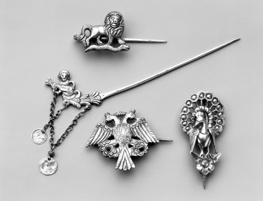 <em>Brooch</em>. Silver Brooklyn Museum, Museum Expedition 1941, Frank L. Babbott Fund, 41.1275.270. Creative Commons-BY (Photo: , 41.1275.147_41.1275.265_41.1275.270_41.1308.16_group_bw.jpg)
