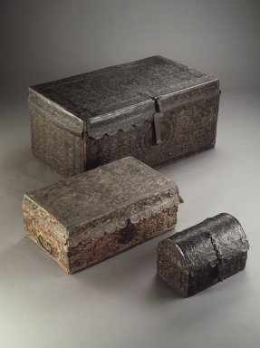 Unknown. <em>Trunk</em>, 18th century. Leather, wood, iron, 15 x 31 1/2 x 18 1/2 in. Brooklyn Museum, Museum Expedition 1941, Frank L. Babbott Fund, 41.1275.170. Creative Commons-BY (Photo: , 41.1275.170_42.158_41.1275.175.jpg)