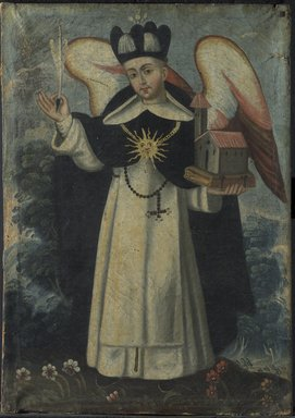 Unknown. <em>San Thomas Aquino</em>, 18th century. Oil on canvas, frame: 25 1/2 x 19 1/2 in. (64.8 x 49.5 cm). Brooklyn Museum, Museum Expedition 1941, Frank L. Babbott Fund, 41.1275.188 (Photo: Brooklyn Museum, 41.1275.188.jpg)