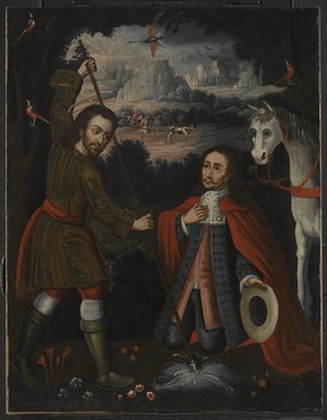 Unknown. <em>Saint Isidore the Farmer</em>, ca. 1750. Oil on canvas, 31 1/8 x 24 1/4in. (79.1 x 61.6cm). Brooklyn Museum, Museum Expedition 1941, Frank L. Babbott Fund, 41.1275.189 (Photo: Brooklyn Museum, 41.1275.189_PS6.jpg)