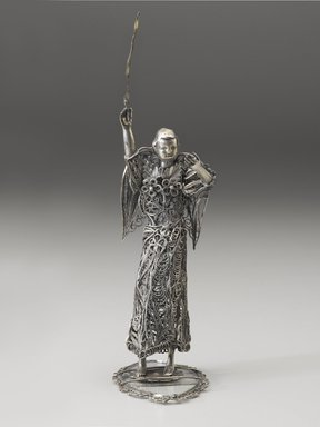 <em>Figure of an Angel</em>, probably 19th century. Silver and glass, 8 1/8 x 2 3/8 x 3 3/8 in. (20.6 x 6 x 8.6 cm). Brooklyn Museum, Museum Expedition 1941, Frank L. Babbott Fund, 41.1275.218. Creative Commons-BY (Photo: Brooklyn Museum, 41.1275.218_PS6.jpg)