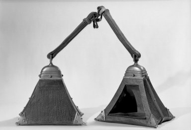 <em>Stirrup</em>, Probably early 17th century. Metal; silver, leather, iron, wood, 9 7/16 × 6 7/8 × 9 7/16 in. (24 × 17.5 × 24 cm). Brooklyn Museum, Museum Expedition 1941, Frank L. Babbott Fund, 41.1275.235a. Creative Commons-BY (Photo: Brooklyn Museum, 41.1275.235a-b_acetate_bw.jpg)