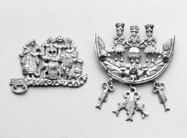 <em>Part of Buckle</em>. Metal; silver, 2 7/8 x 2 1/16 in. Brooklyn Museum, Frank L. Babbott Fund, Frank Sherman Benson Fund, Carll H. de Silver Fund, A. Augustus Healy Fund, Caroline A.L. Pratt Fund, Charles Stewart Smith Memorial Fund, and Ella C. Woodward Memorial Fund, 48.206.89. Creative Commons-BY (Photo: , 41.1275.266_48.206.89_group_bw.jpg)