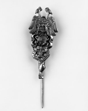 <em>Pin or Tupu</em>. Silver, 4 1/2 x 1 3/8 in. Brooklyn Museum, Museum Expedition 1941, Frank L. Babbott Fund, 41.1275.291. Creative Commons-BY (Photo: Brooklyn Museum, 41.1275.291_bw.jpg)