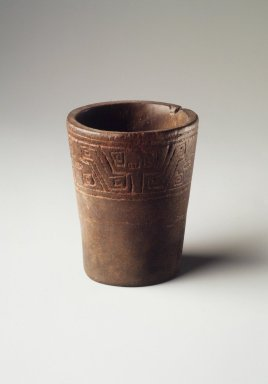 Inca. <em>Kero Cup</em>, 1470-1532. Wood, 2 1/2 x 2in. (6.4 x 5.1cm). Brooklyn Museum, Museum Expedition 1941, Frank L. Babbott Fund, 41.1275.357c. Creative Commons-BY (Photo: Brooklyn Museum, 41.1275.357c.jpg)