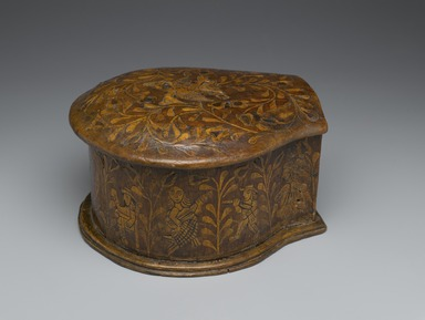 Unknown. <em>Coca-Leaf Box</em>, 18th century. Wood with wood inlays, metal, and cloth, 5 1/2 x 7 1/8 x 8 7/8in. (14 x 18.1 x 22.5cm). Brooklyn Museum, Museum Expedition 1941, Frank L. Babbott Fund, 41.1275.7. Creative Commons-BY (Photo: Brooklyn Museum, 41.1275.7_PS6.jpg)