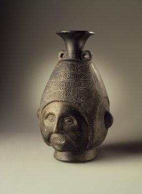 Chimú Inca. <em>Portrait Jar</em>, 1470-1532. Ceramic, 8 1/2 x 5 1/2 x 5 in. (21.6 x 14 x 12.7 cm). Brooklyn Museum, Museum Expedition 1941, Frank L. Babbott Fund, 41.1275.99. Creative Commons-BY (Photo: Brooklyn Museum, 41.1275.99.jpg)