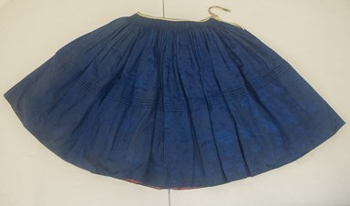 <em>Skirt</em>. Damask silk, cotton, L: 70cm, : at top 4cm. Brooklyn Museum, Museum Expedition 1941, Frank L. Babbott Fund, 41.1308.19b. Creative Commons-BY (Photo: Brooklyn Museum, 41.1308.19b_front_PS5.jpg)