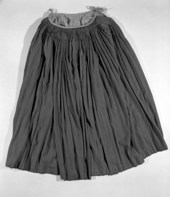 <em>Zapotecan costume: Skirt</em>. Wool, silk, rayon(?) Brooklyn Museum, Museum Expedition 1941, Ella C. Woodward Memorial Fund, 41.1310.63b. Creative Commons-BY (Photo: Brooklyn Museum, 41.1310.63b_bw.jpg)