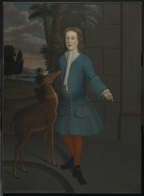 American. <em>John Van Cortlandt</em>, ca. 1731. Oil on linen, 56 15/16 x 41 9/16 in. (144.7 x 105.6 cm). Brooklyn Museum, Dick S. Ramsay Fund, 41.152 (Photo: Brooklyn Museum, 41.152_PS2.jpg)