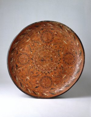 <em>(Tray) Batea</em>, 17th or 18th century. Lacquered and painted wood with inlaid lacquer decoration, 4 13/16 x 41 13/16 in. (12.2 x 106.2 cm). Brooklyn Museum, A. Augustus Healy Fund, 41.227. Creative Commons-BY (Photo: Brooklyn Museum, 41.227_SL1.jpg)