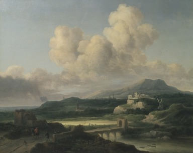 Thomas Doughty (American, 1793-1856). <em>Landscape after Ruisdael</em>, 1846. Oil on canvas, 32 1/16 x 39 5/16 in. (81.4 x 99.9 cm). Brooklyn Museum, Gift of the Pierrepont Family, 41.5 (Photo: Brooklyn Museum, 41.5.jpg)