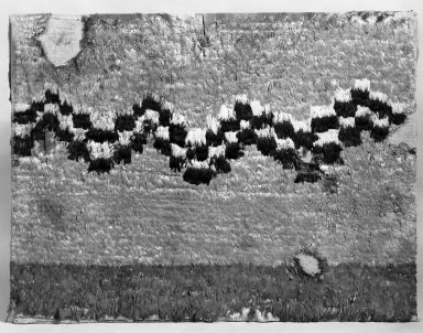 <em>Framed Textile; Garment</em>. Cotton, feather, 37 x 48 13/16 in. (94 x 124 cm). Brooklyn Museum, Henry L. Batterman Fund, 41.521. Creative Commons-BY (Photo: Brooklyn Museum, 41.521_bw.jpg)