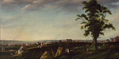 Francis Guy (American, 1760-1820). <em>View of Baltimore from Chapel Hill</em>, 1802-1803. Oil on canvas, 47 7/16 × 93 9/16 in. (120.5 × 237.6 cm). Brooklyn Museum, Gift of George Dobbin Brown, 41.624 (Photo: Brooklyn Museum, 41.624_SL3.jpg)