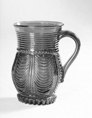 American. <em>Mug with Applied Handle</em>. Glass Brooklyn Museum, Gift of Arthur W. Clement, 41.836. Creative Commons-BY (Photo: Brooklyn Museum, 41.836.jpg)
