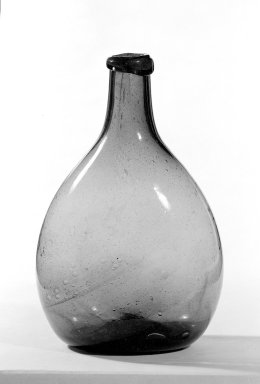 American. <em>Blown Bottle</em>. Glass Brooklyn Museum, Gift of Arthur W. Clement, 41.845. Creative Commons-BY (Photo: Brooklyn Museum, 41.845_bw.jpg)