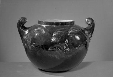 American. <em>Vase</em>. Earthenware Brooklyn Museum, Gift of Mrs. Julius Reiner, 41.849. Creative Commons-BY (Photo: Brooklyn Museum, 41.849_acetate_bw.jpg)