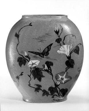 American. <em>Vase</em>. Earthenware Brooklyn Museum, Gift of Mrs. Julius Reiner, 41.850. Creative Commons-BY (Photo: Brooklyn Museum, 41.850_bw.jpg)
