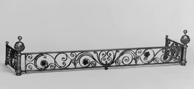 Unknown. <em>Fender for Fireplace</em>, ca. 1881. Brass, 15 x 35 1/8 x 17 1/2 in. (38.1 x 89.2 x 44.4 cm). Brooklyn Museum, Gift of Mrs. William E. S. Griswold in memory of her father, John Sloane, 41.980.15. Creative Commons-BY (Photo: Brooklyn Museum, 41.980.15_bw.jpg)