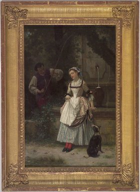 Louis-Marie Baader (French, 1828-ca. 1919). <em>At the Fountain</em>, 1873. Oil on canvas, 16 7/16 x 11 13/16 in. (41.8 x 30.1 cm). Brooklyn Museum, Gift of Mrs. William E. S. Griswold in memory of her father, John Sloane, 41.980.59 (Photo: Brooklyn Museum, 41.980.59.jpg)