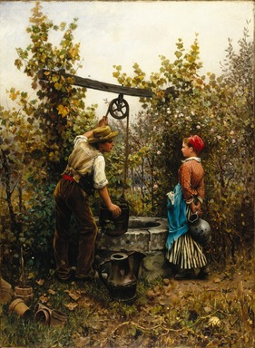 Daniel Ridgway Knight (American, 1839-1924). <em>The Well</em>, 1880. Oil on canvas, 39 5/16 x 28 15/16 in. (99.9 x 73.5 cm). Brooklyn Museum, Gift of Mr. and Mrs. William E. S. Griswold, 41.980.62 (Photo: Brooklyn Museum, 41.980.62_SL1.jpg)
