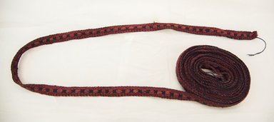 <em>Belt</em>, late 19th century. Wool, 13/16 x 205 1/8 in. (2 x 521 cm). Brooklyn Museum, By exchange, 42.112.6. Creative Commons-BY (Photo: Brooklyn Museum, 42.112.6_front_PS5.jpg)