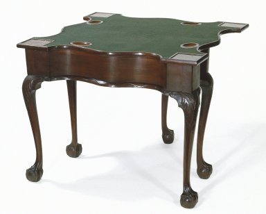 American. <em>Chippendale Card Table</em>, mid 18th century. Mahogany Brooklyn Museum, Anonymous gift, 42.118.2. Creative Commons-BY (Photo: Brooklyn Museum, 42.118.2_SL1.jpg)
