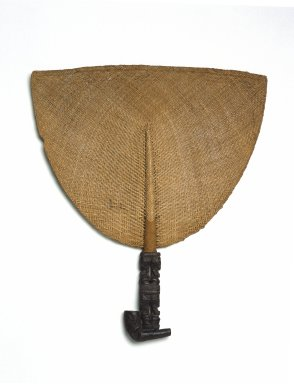 Marquesan. <em>Fan (Tahi'i)</em>, 19th century. Plant fiber, wood, 13 1/4 x 11 3/8 x 3/4 in. (33.7 x 28.9 x 1.9 cm). Brooklyn Museum, By exchange, 42.243.2. Creative Commons-BY (Photo: Brooklyn Museum, 42.243.2_SL1.jpg)
