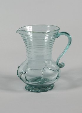 American. <em>Pitcher</em>, ca.1820. Blown glass, 7 3/8 in. (18.7 cm). Brooklyn Museum, Dick S. Ramsay Fund, 42.24. Creative Commons-BY (Photo: Brooklyn Museum, 42.24_PS5.jpg)