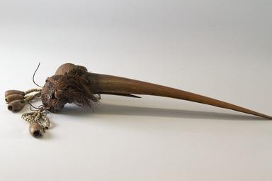 <em>Dagger</em>. Human bone, shell, fiber Brooklyn Museum, Gift of L. Pierre Ledoux, 42.263. Creative Commons-BY (Photo: Brooklyn Museum, 42.263_PS8.jpg)